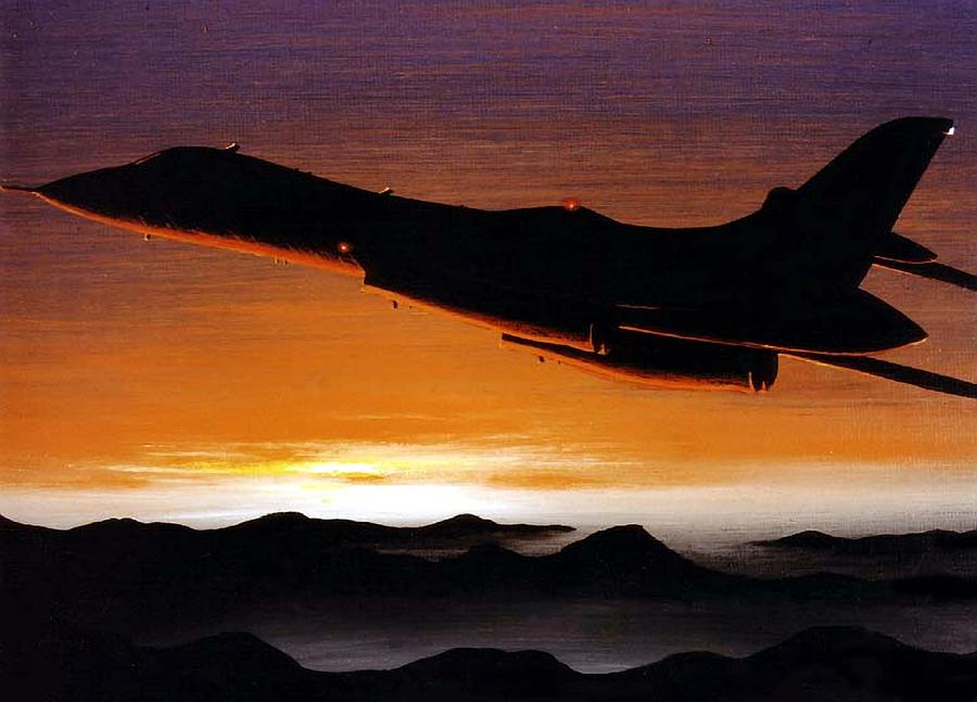 B-1a Painting - Sun Chasers by Peter Ring Sr