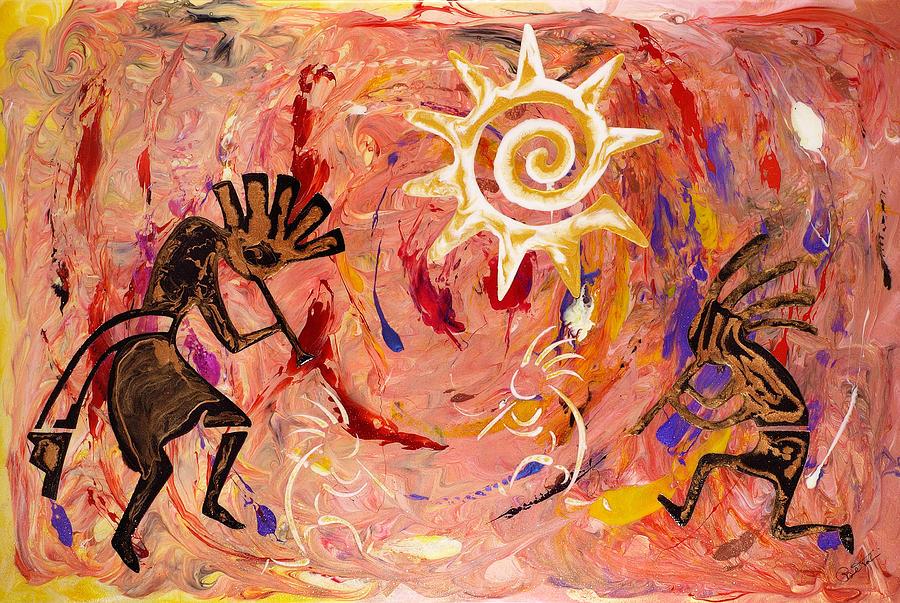 Sun Dance Painting - Sun Dance by Paul Tokarski