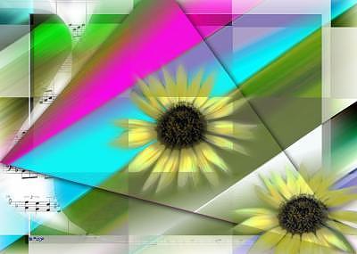 Sunflowers Digital Art - Sun Dancers by Art by Brenda Starr