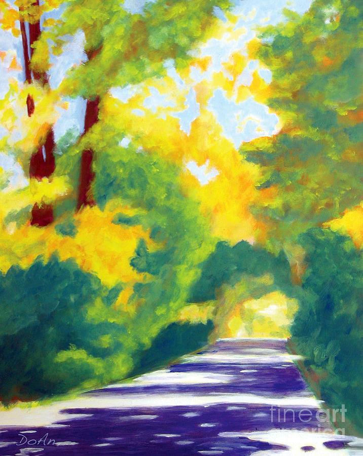 Sun Dappled Road by Antony Galbraith