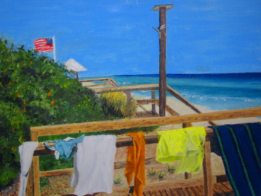 Seascape Painting - Sun Deck by John Terry