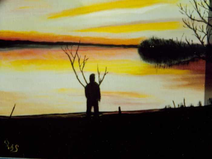 Sun Down Painting - Sun Down by Paul james  Schumann