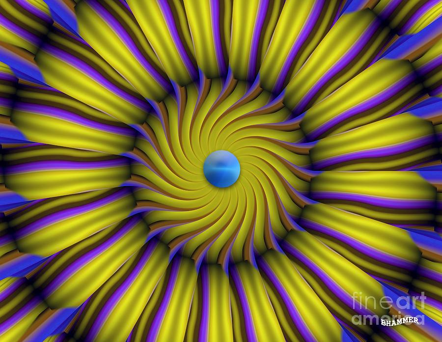 Colorful Digital Art - Sun Flower by Bobby Hammerstone