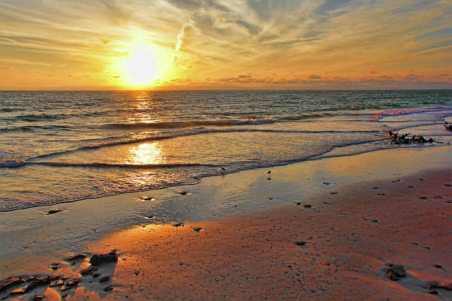 Beach Photograph - Sun Glow by HH Photography of Florida