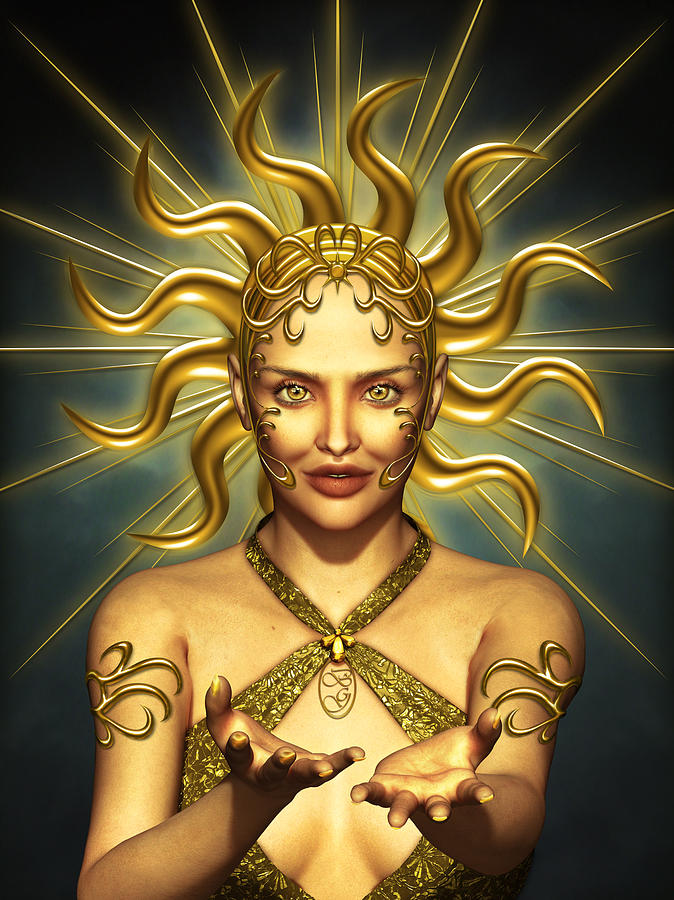 Sun Goddess Mixed Media
