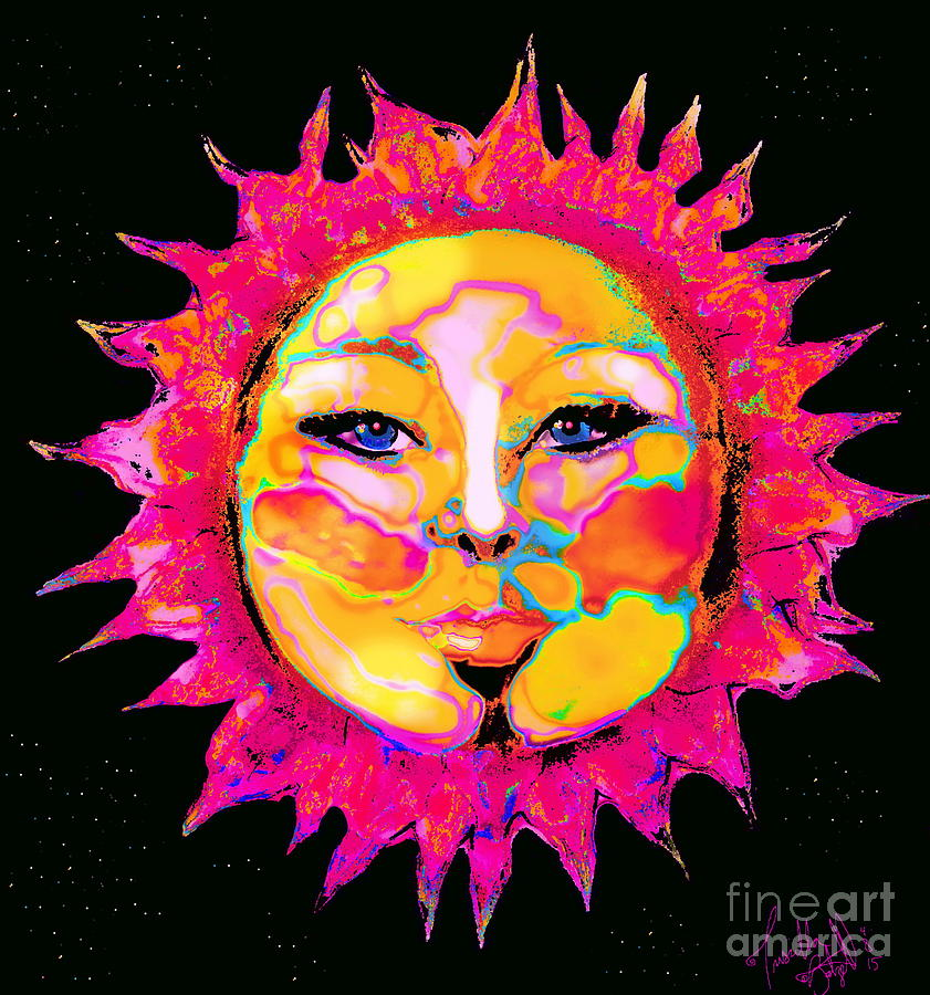 Sun Goddess She Sun Digital Art by Priscilla Batzell Expressionist Art Studio Gallery