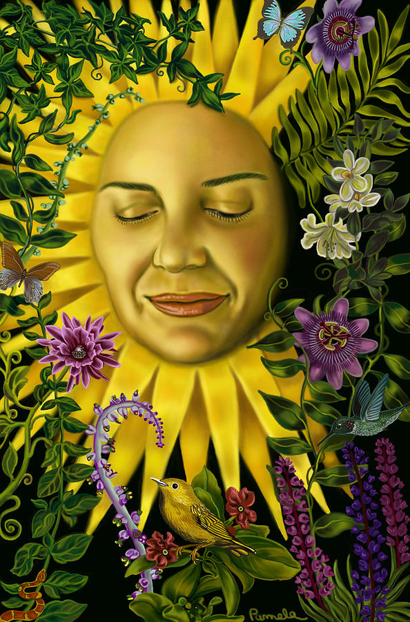 Goddess Painting - Sun Goddess by Pamela Wells