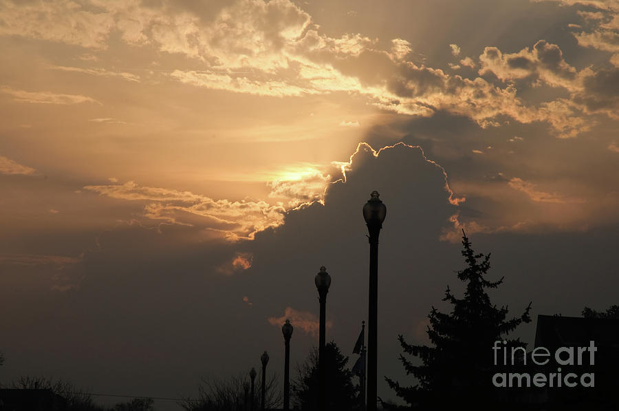 Sun Photograph - Sun In A Cloud Of Glory by Andee Design