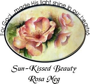 Roses Painting - Sun-kissed Beauty-rosa Meg by Jan Howlett