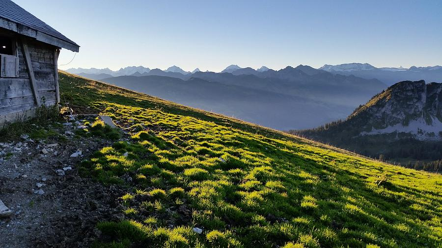 Hiking Photograph - Sun Kissed Bernese Alps by Two Small Potatoes