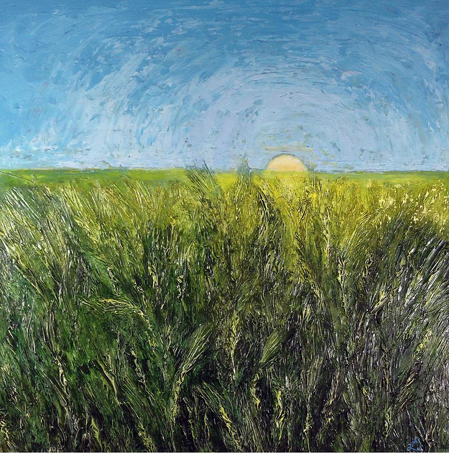 Harvest Painting - Sun-kissed Harvest by Lisa Marie Dole Skinner