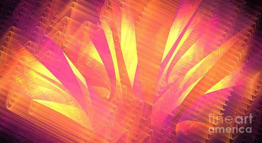 Apophysis Digital Art - Sun Leaves by Kim Sy Ok