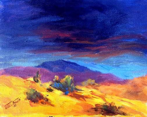 Sun Lit Hill Painting by Geri Acosta