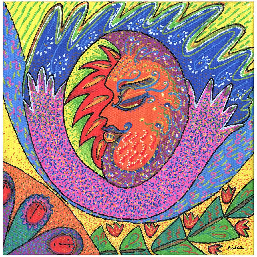Whimsical Painting - Sun Man by Sharon Nishihara