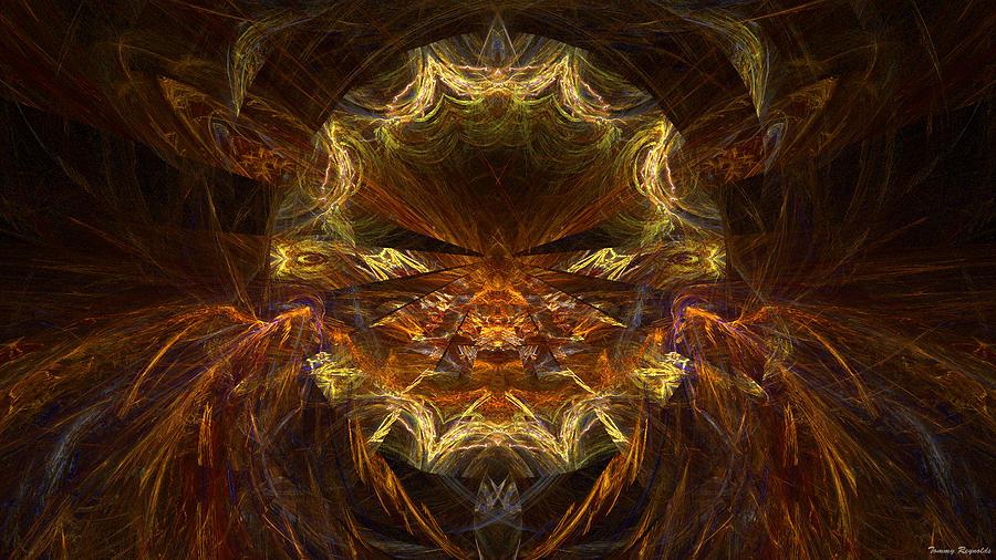 Sun Mask Digital Art - Sun Mask by Tommy Reynolds