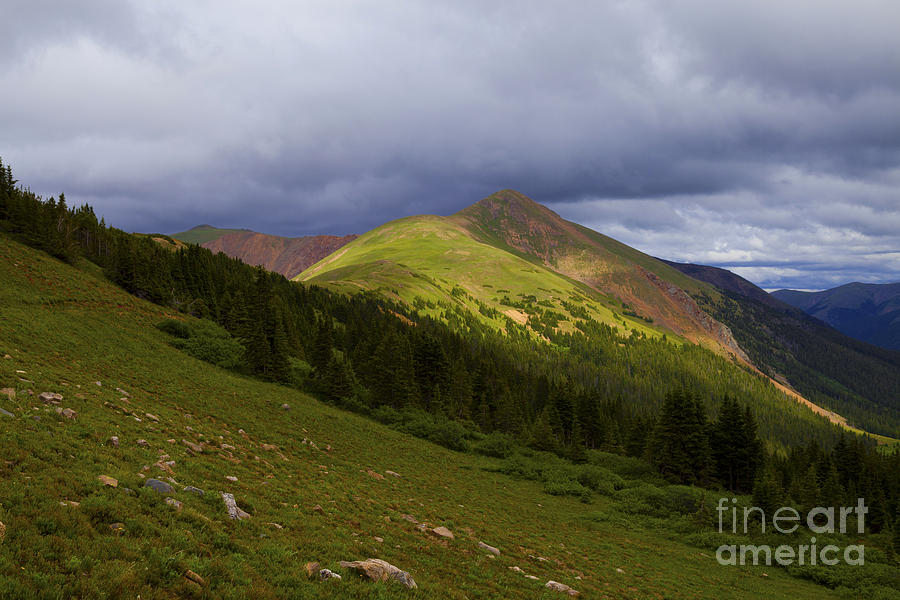 Mountains Photograph - Sun Peaking Through by Barbara Schultheis
