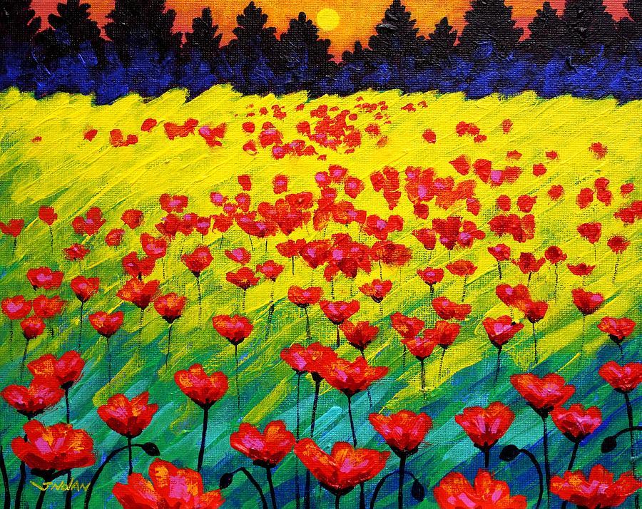 Landscape Painting - Sun Poppies by John  Nolan