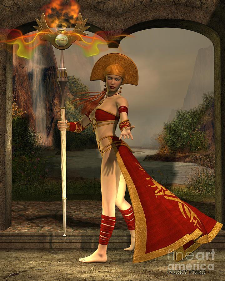 Sun Priestess Painting