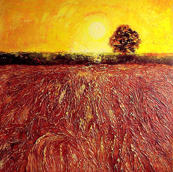 Harvest Painting - Sun-ripened Harvest by Lisa Marie Dole Skinner