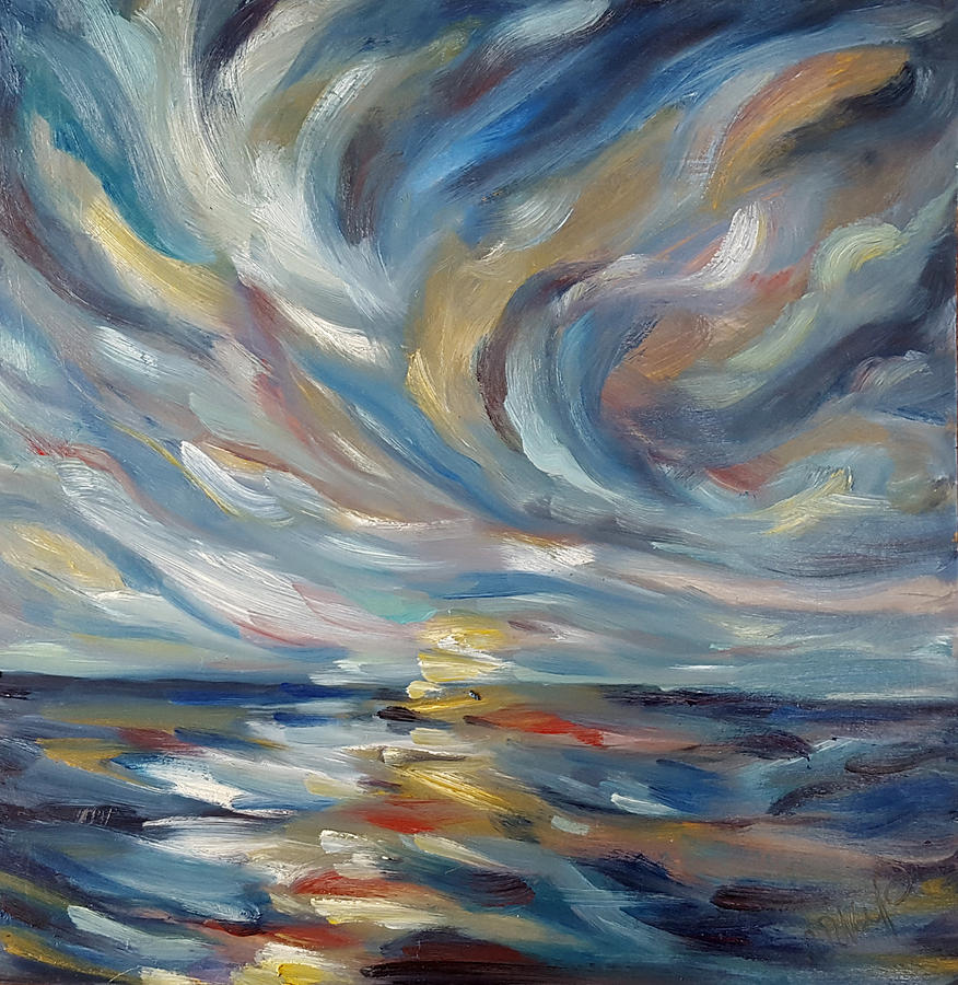 Seascape Painting - Sun Rise by Niki Purcell