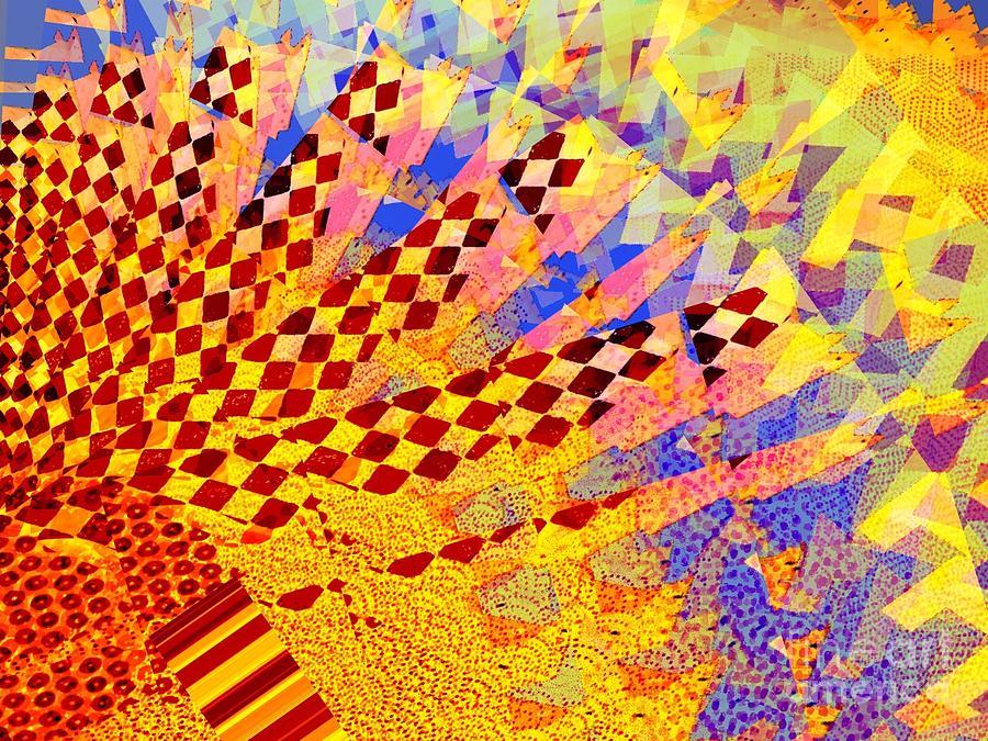 Golden Digital Art - Sun Rising by Cooky Goldblatt
