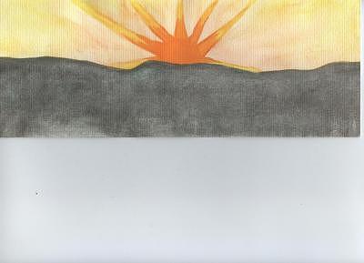 Landscape Painting - Sun Rising From Dark by Tanya Davis