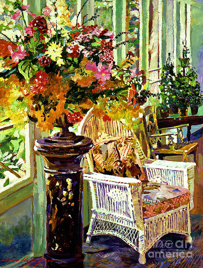 Flowers Painting - Sun Room by David Lloyd Glover