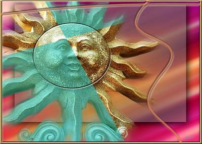 Sun Digital Art - Sun Sailor by Art by Brenda Starr