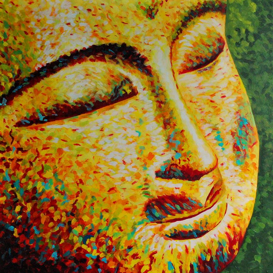 Buddha Painting - Sun Salutation by Melanie Cossey