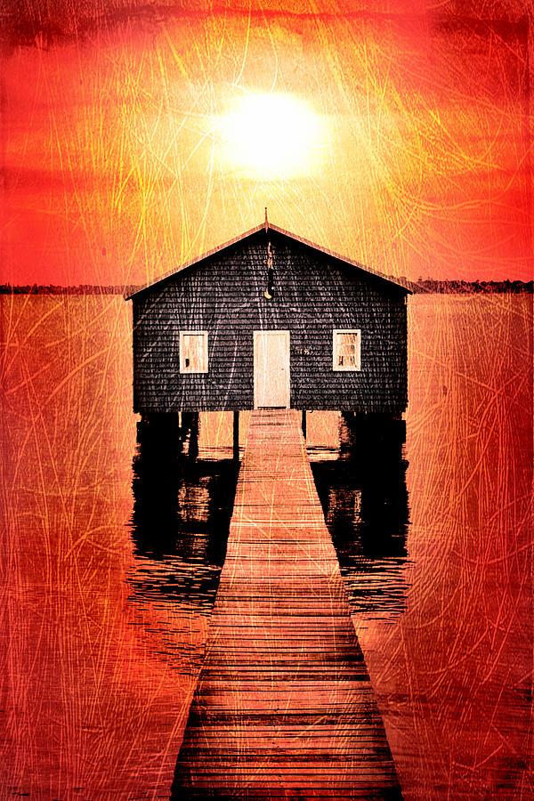 Jetty Digital Art - Sun Scars by Az Jackson