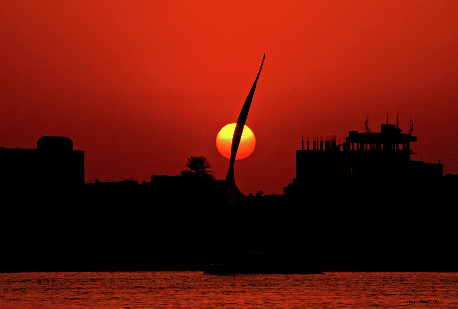 Nile Photograph - Sun Set by Chaza Abou El Khair
