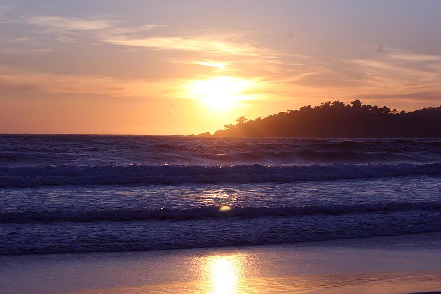Sun Set Photograph - Sun set in Carmel by Ofelia  Arreola
