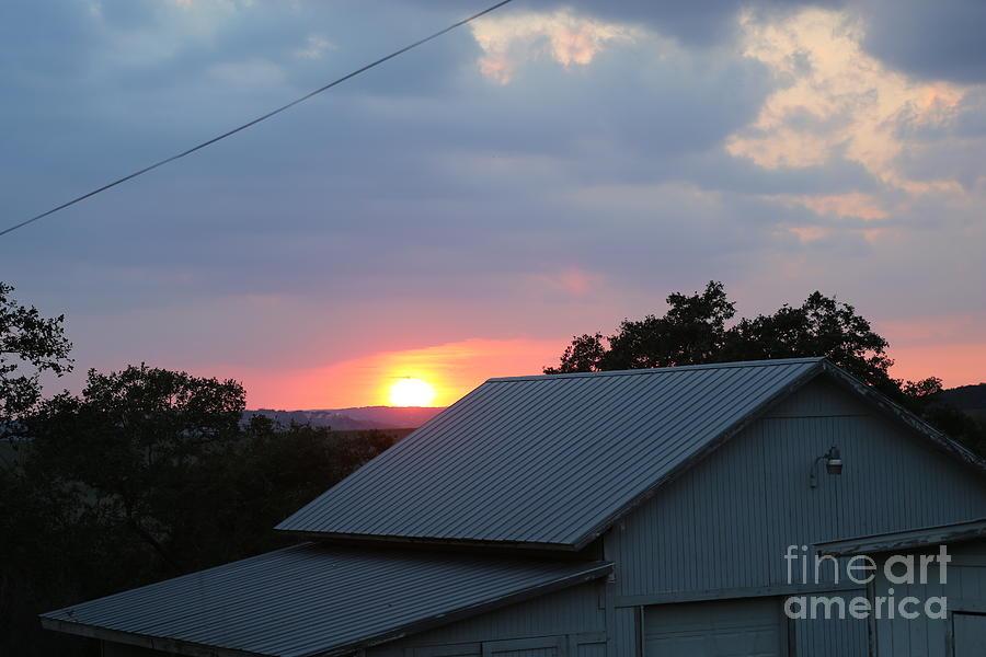 Sun Set On Barn  Photograph by Jeff Downs