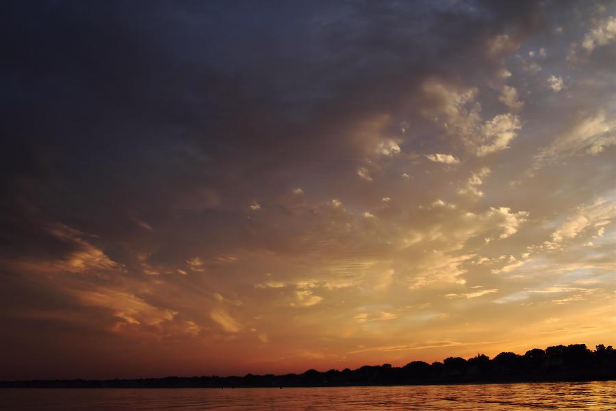 Sunset Photograph - Sun Settles On Connecticut by Karol Livote