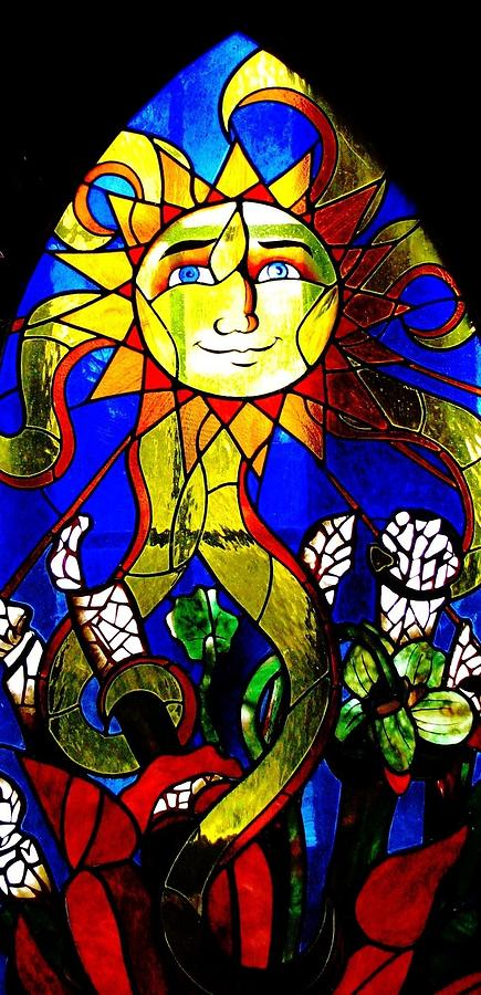 Stained Glass Windows Photograph - Sun Shine by Angela Davies