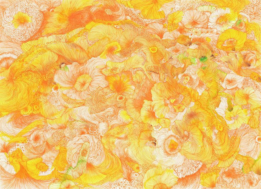 Sun Drawing - Sun - #ss16dw022 by Satomi Sugimoto