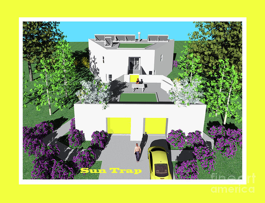 Architect Drawing - Sun Trap North by Michael Moore