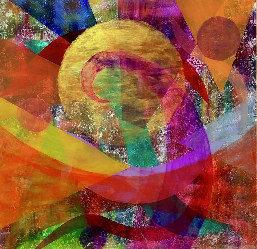 Colorful Painting - Sun Wave 16-15 by Patrick OLeary