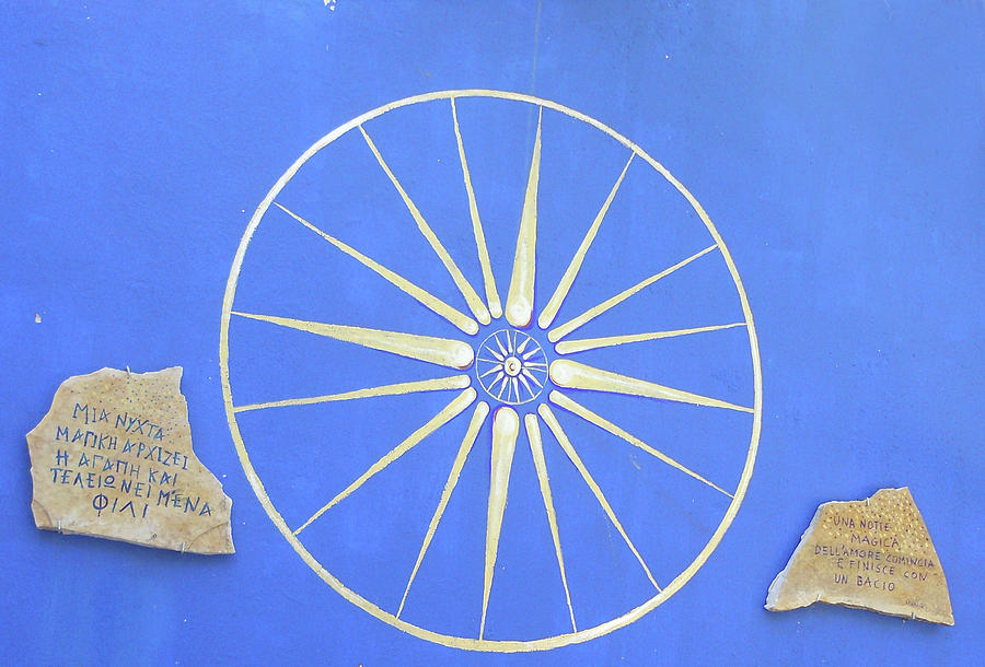 Gold Photograph - Sun Wheel by Angelica Colby