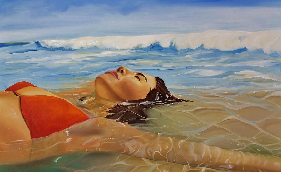 Landscape Painting - Sunbather by Crimson Shults