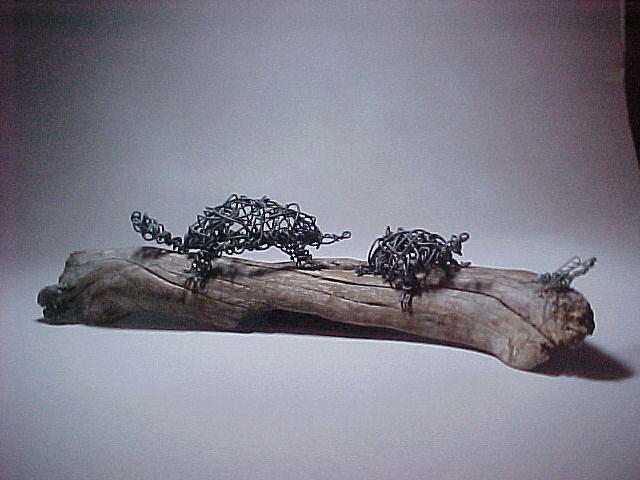 Wire Tapestry - Textile - Sunbathers by Charlene White