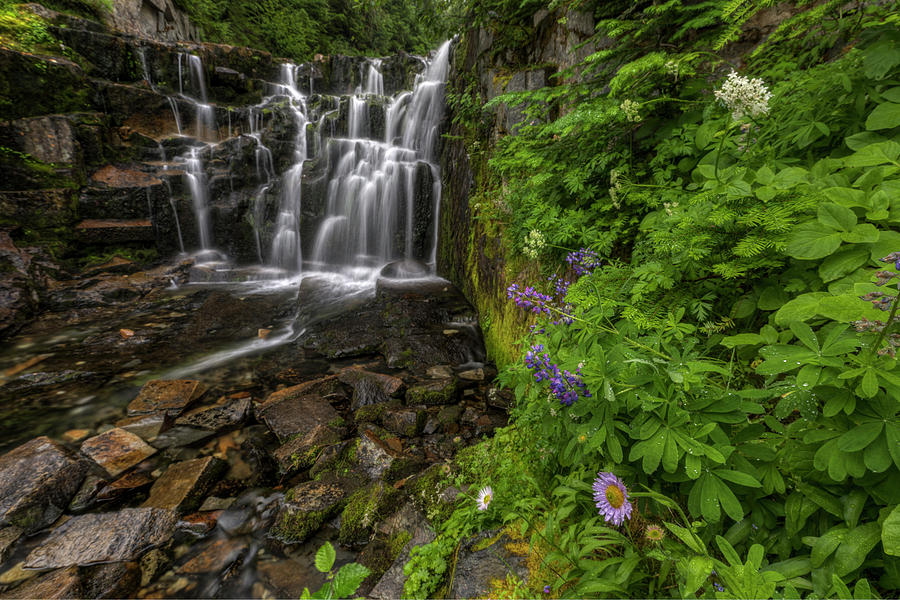 Waterfall Photograph - Sunbeam Falls by Mark Kiver