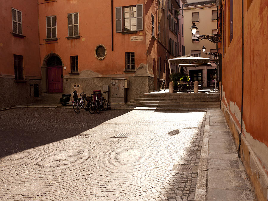 Parma Photograph - Sunbeams On A Quiet Street by Rae Tucker
