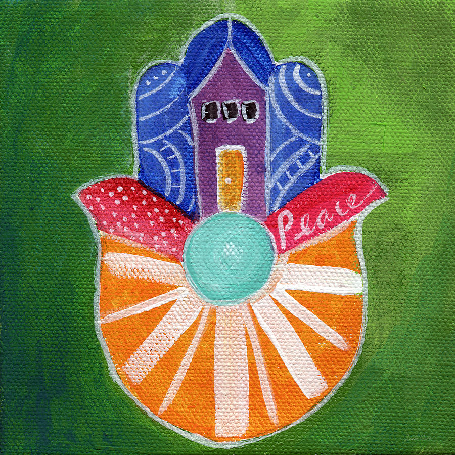 Sunburst Hamsa Painting