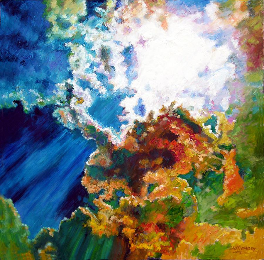 Sunburst Painting - Sunburst by John Lautermilch