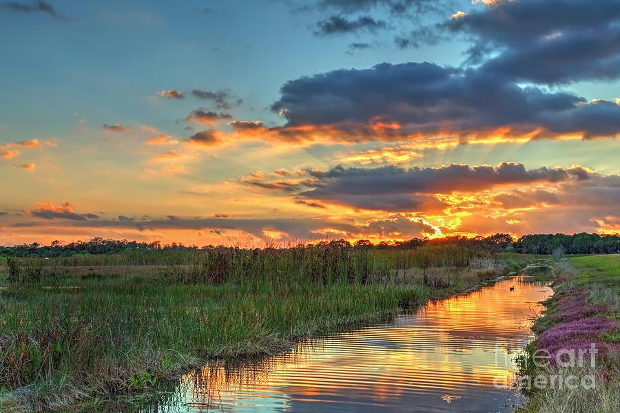 Sunburst Sunset Photograph by Rick Mann