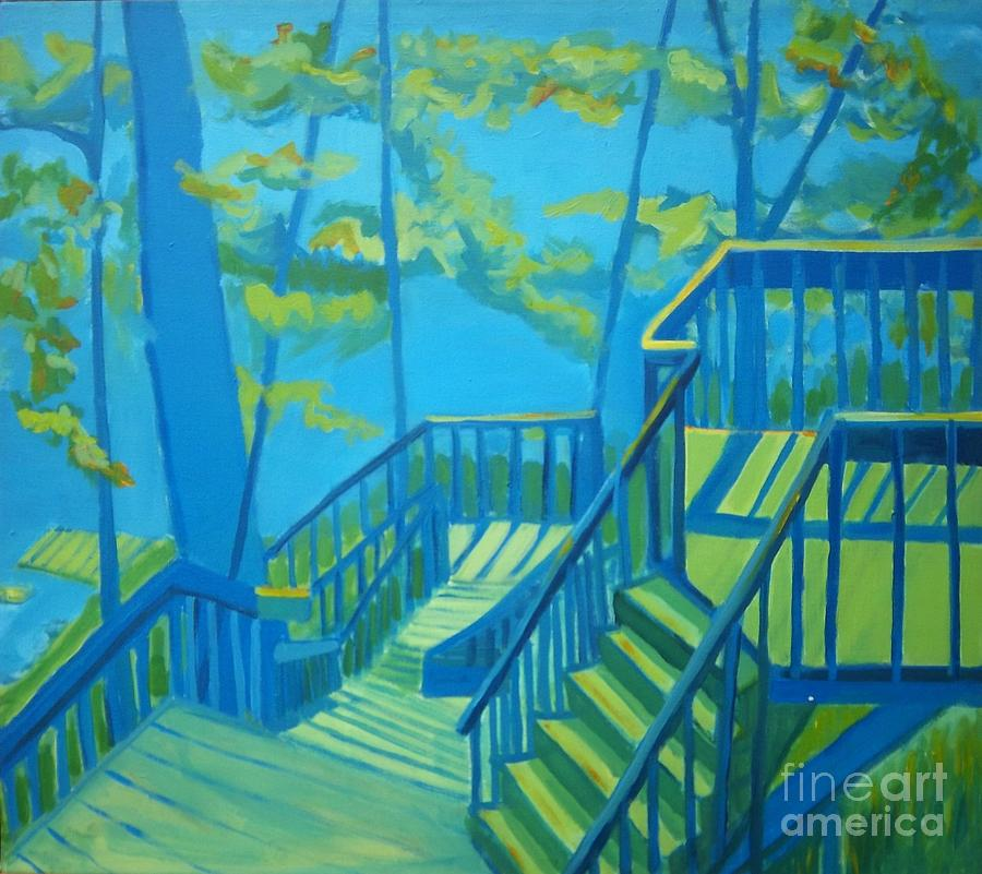 New Hampshire Painting - Suncook Stairwell by Debra Bretton Robinson