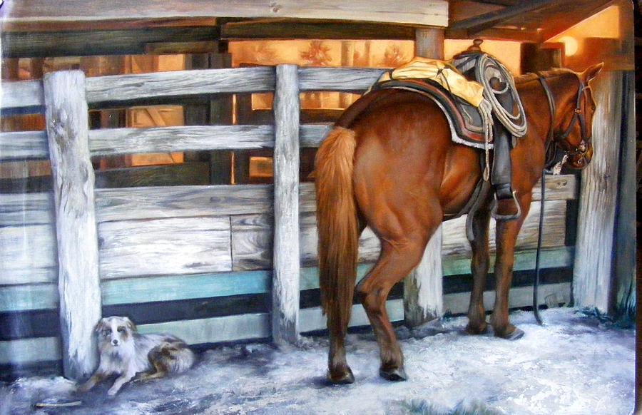 Horse Painting - Sundance by Keith  Goodson