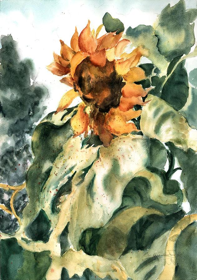 Sunflower Painting - Sundancer by Barbara Jung