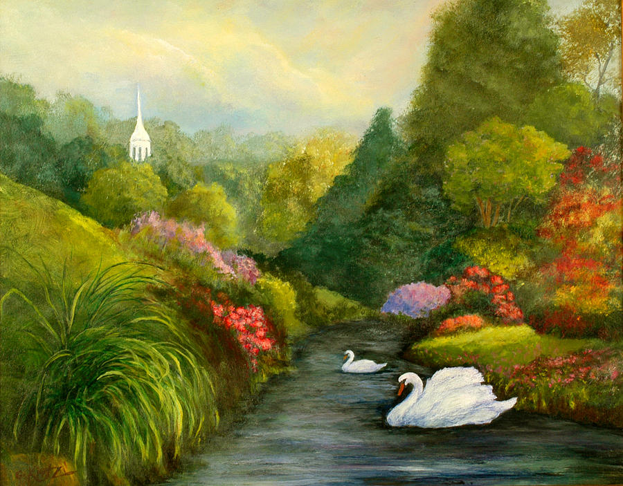 Christian Painting - Sunday Afternoon by Gail Kirtz
